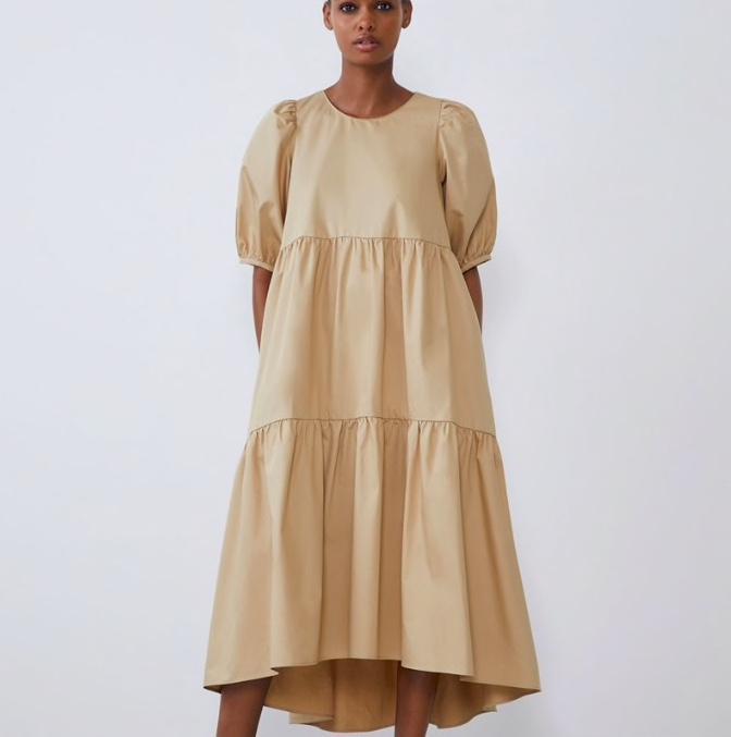 Женское модное летнее платье копия Zara, купить на Алиэкспресс