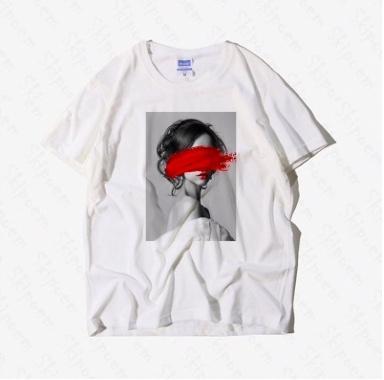 Белая футболка с принтом на Алиэкспресс