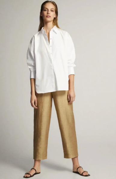 Белая женская рубашкаMassimo Dutti на Алиэкспресс