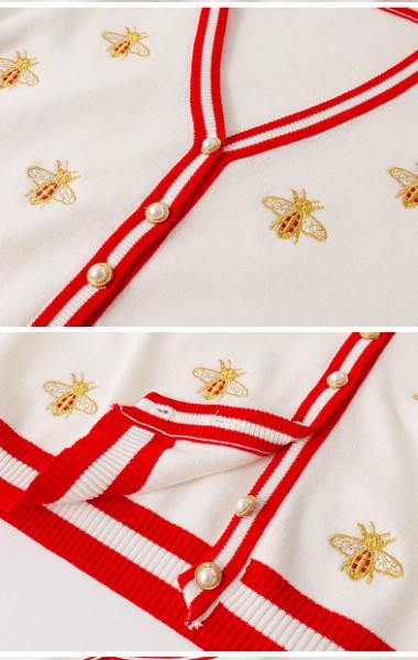Кардиган Гуччи (Gucci)с вышивкой пчелы