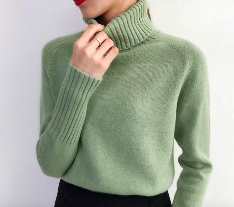Кашемировый свитер водолазка на Алиэкспресс
