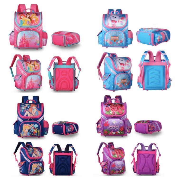 Школьный рюкзак с бабочками для девочек 1 класс с ортопедической спинкой
