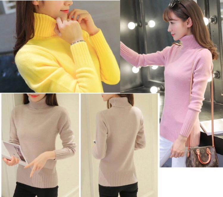 Женский свитер водолазка осень-зима 2020