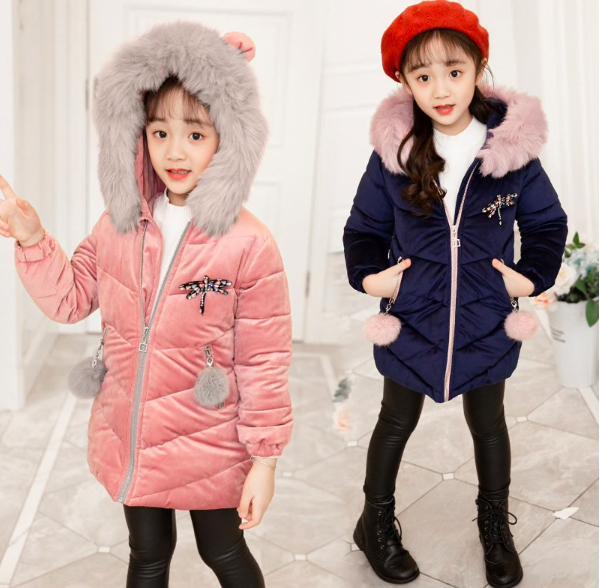 Детская тёплая куртка для девочек купить на Алиэкспресс