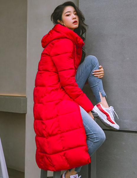 Женская зимняя длинная куртка с капюшоном купить на Алиэкспресс