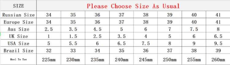 аблица размеров обуви на Алиэкспресс
