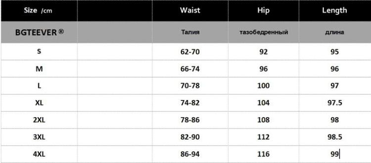 Таблица размеров женских брюк
