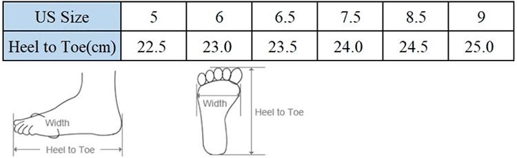 Таблица размеров женских кроссовок на Алиэкспресс