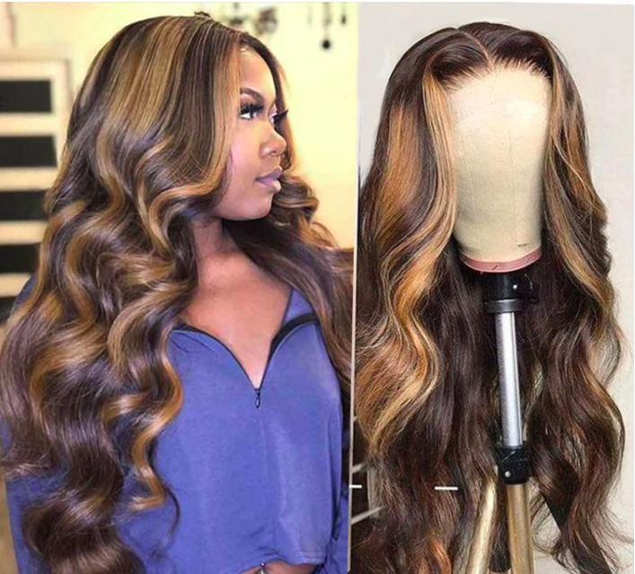 Длинный парик из натуральных женских волос с эффектом омбрекупить на Алиэкспресс