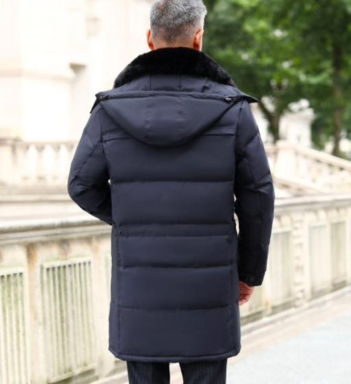 Толстый длинный зимний мужской пуховик с капюшономкупить на Алиэкспресс