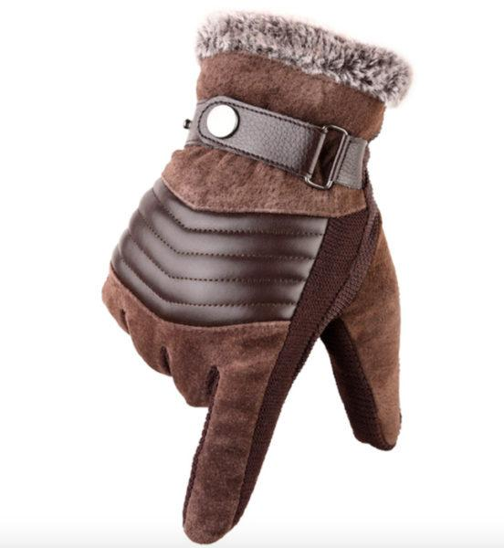 Мужские кожаные перчатки LA SPEZIA из настоящей свиной шкуры купить на Алиэкспресс