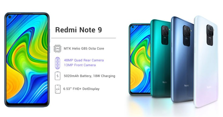 Смартфон Xiaomi Redmi Note 9 4 ГБ 128 ГБ