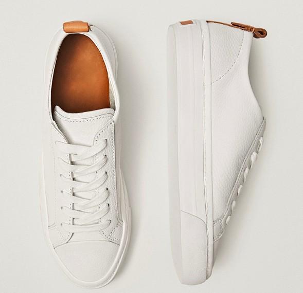 Белые женские кожаные кеды Massimo Dutti на Алиэкспресс