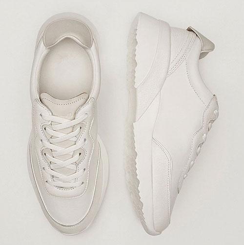Белые женские кроссовки Massimo Dutti
