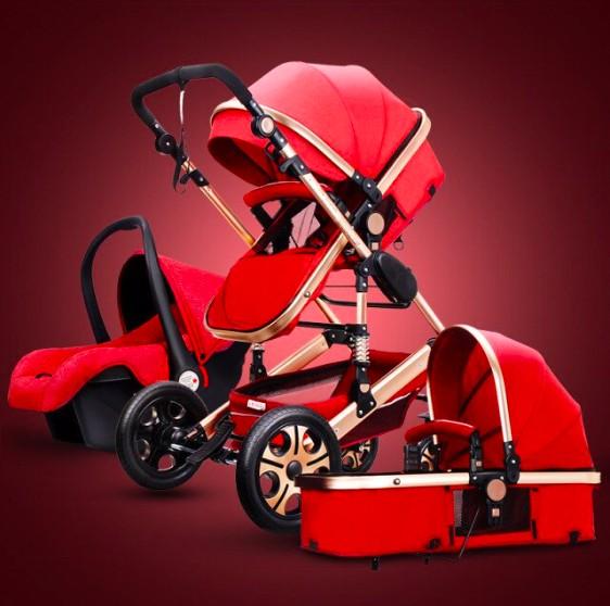 Детские коляски люкс 3 в 1 с автомобильным сиденьемна Алиэкспресс