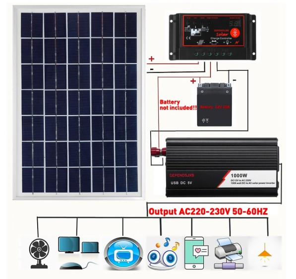 Комплект солнечной системы Soalr 12 В/24 В, 18 в, 20 Вт, купить на Алиэкспресс