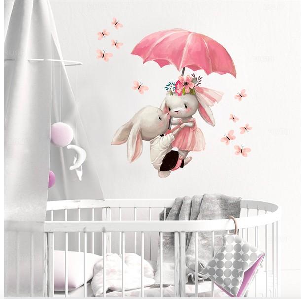 Наклейка на стену для девочек в розовом цвете на Алиэкспресс