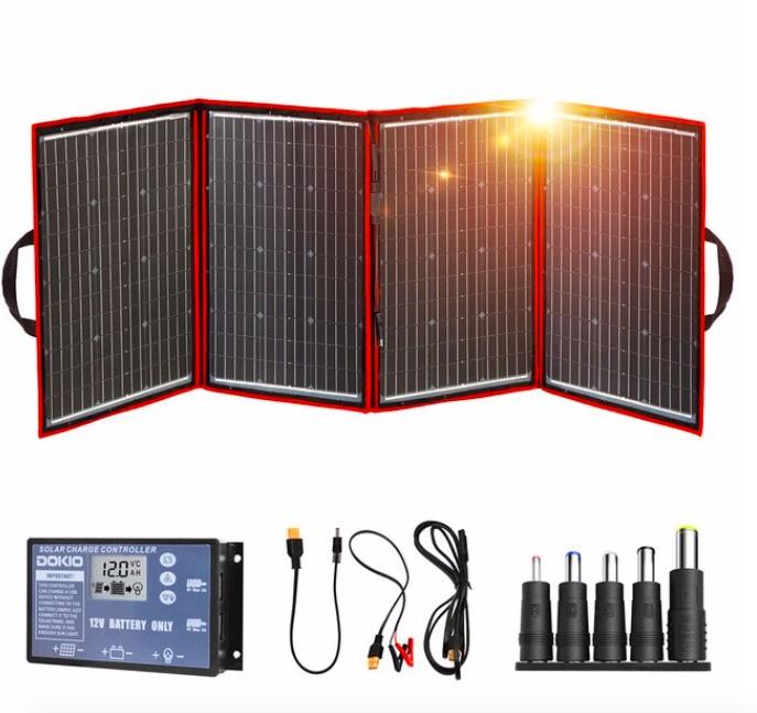 Складные солнечные панели Dokio 200W (50W*4) 12V/18V usb