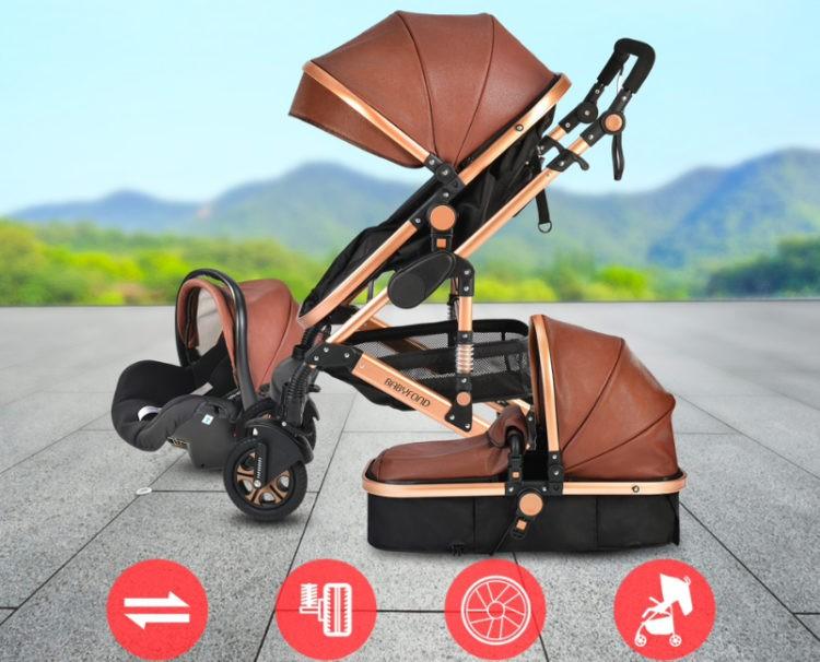 Babyfond коляска 3 в 1на Алиэкспресс