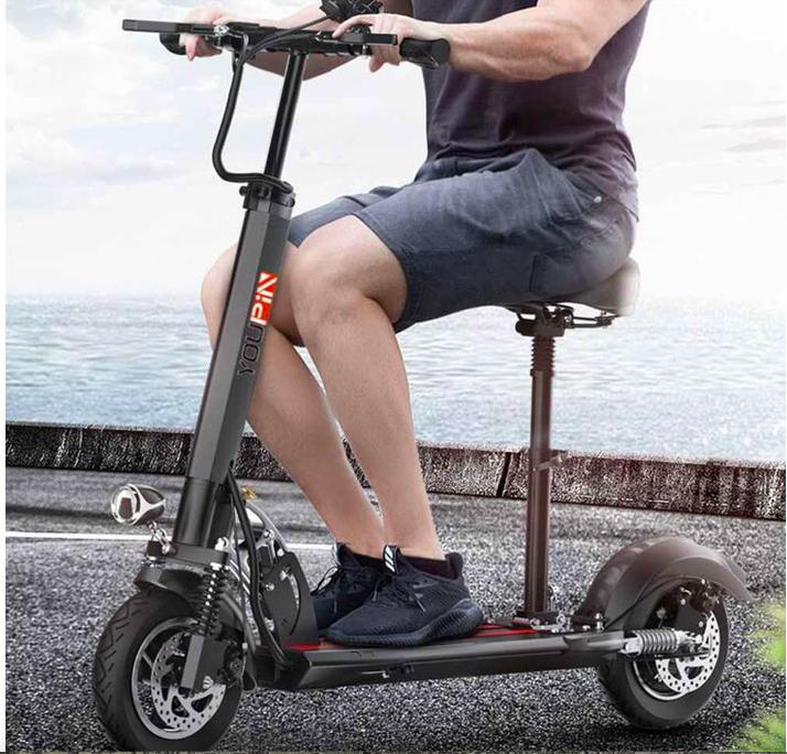 Складной электрический самокат с сиденьем купить на Aliexpress