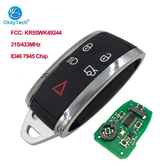 Дистанционный ключ автомобиля OkeyTech 5 кнопок для Jaguar