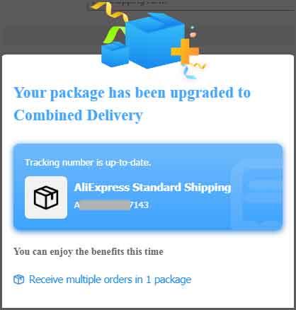 Получите несколько заказов в 1 упаковке AliExpress