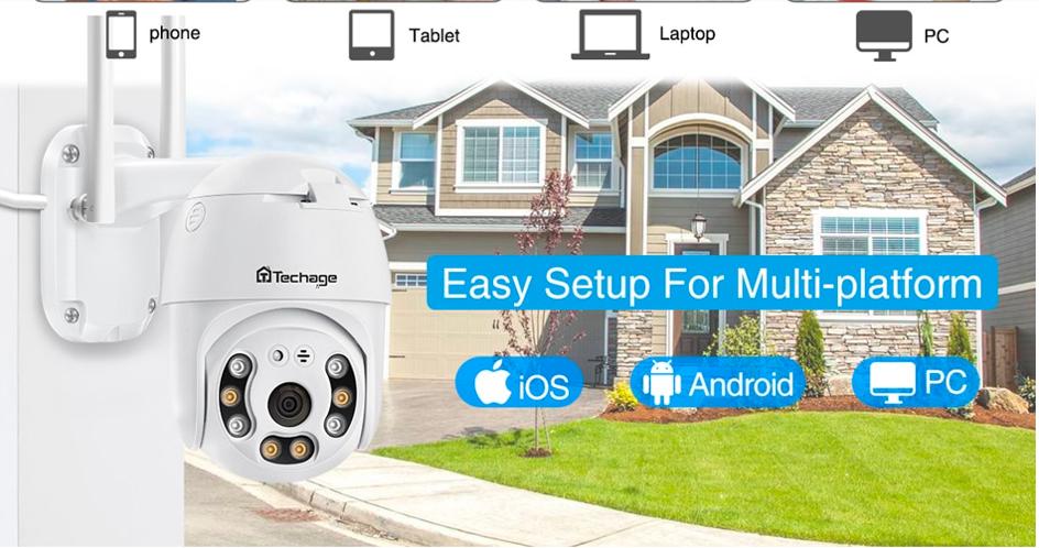 Уличная водонепроницаемая беспроводная камера безопасности Smart AI купить на Алиэкспресс