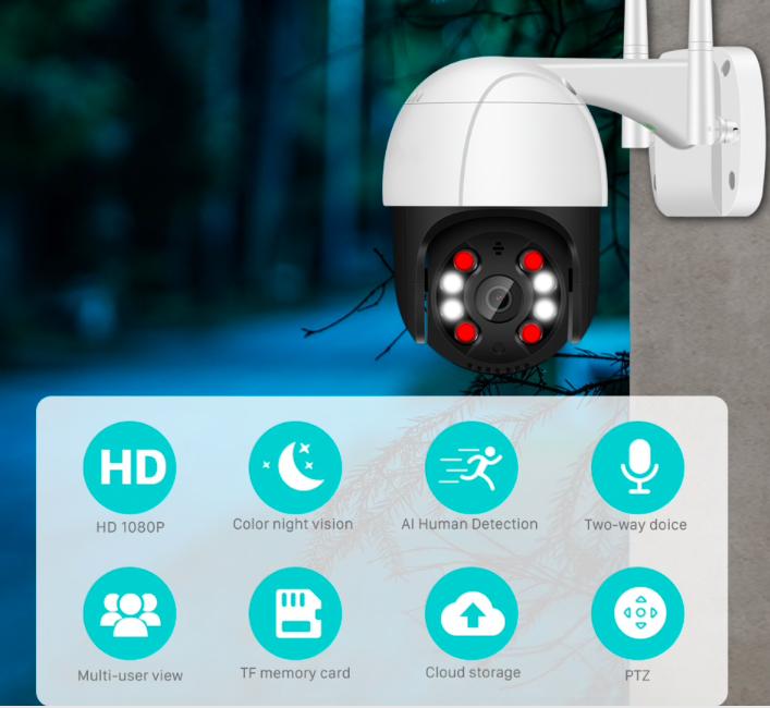 IP-камера видеонаблюдения наружная беспроводная купить на Aliexpress